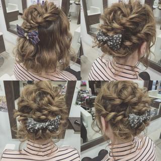 ゆるふわ くるりんぱ ショート 簡単ヘアアレンジ ヘアスタイルや髪型の写真・画像 ヘアスタイルや髪型の写真・画像