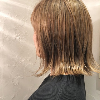 ボブ 外国人風カラー デート フェミニン ヘアスタイルや髪型の写真・画像