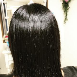 ショートボブ エレガント ミニボブ セミロング ヘアスタイルや髪型の写真・画像