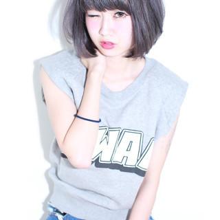 暗髪 ストレート 外国人風 ボブ ヘアスタイルや髪型の写真・画像 ヘアスタイルや髪型の写真・画像