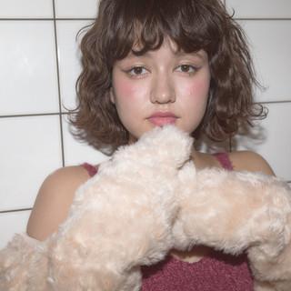パーマ ガーリー 色気 ボブ ヘアスタイルや髪型の写真・画像