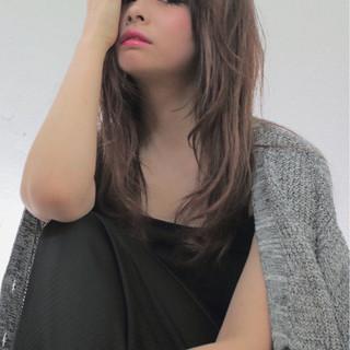 アッシュ ワイドバング 黒髪 ピュア ヘアスタイルや髪型の写真・画像