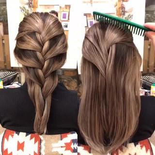 アンニュイほつれヘア コントラストハイライト 3Dハイライト 外国人風 ヘアスタイルや髪型の写真・画像