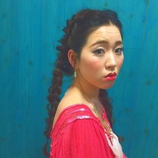 暗髪 外国人風 ロング ヘアアレンジ ヘアスタイルや髪型の写真・画像 ヘアスタイルや髪型の写真・画像