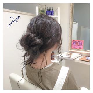 ショート セミロング メッシーバン 簡単ヘアアレンジ ヘアスタイルや髪型の写真・画像 ヘアスタイルや髪型の写真・画像