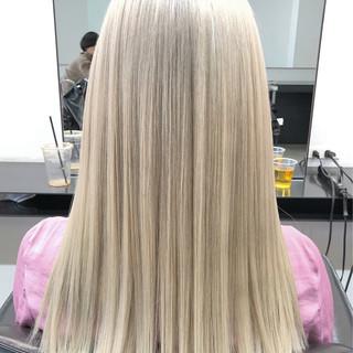 ダブルブリーチ ストリート 外国人風カラー ブリーチカラー ヘアスタイルや髪型の写真・画像
