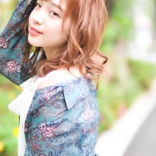 外国人風カラー パーマ デート 簡単ヘアアレンジ ヘアスタイルや髪型の写真・画像