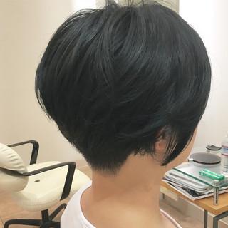 刈り上げ女子 刈り上げショート ボブ 刈り上げ ヘアスタイルや髪型の写真・画像