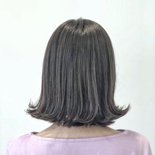 ナチュラル ボブ グレージュ 外国人風カラー ヘアスタイルや髪型の写真・画像