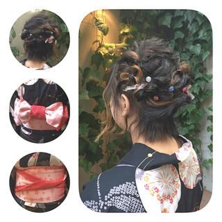 ショート ボブ 和装 ヘアアレンジ ヘアスタイルや髪型の写真・画像 ヘアスタイルや髪型の写真・画像