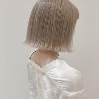 ベージュ ショート 透明感 外国人風カラー ヘアスタイルや髪型の写真・画像