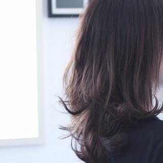 ネイビーカラー ネイビー ネイビーブルー ロング ヘアスタイルや髪型の写真・画像