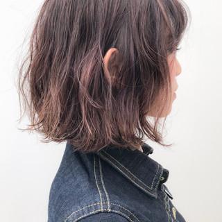 イルミナカラー ガーリー デート パーマ ヘアスタイルや髪型の写真・画像