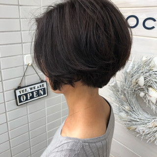 女子力 似合わせ ショート エレガント ヘアスタイルや髪型の写真・画像
