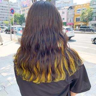 ブリーチ グレージュ 透明感カラー ロング ヘアスタイルや髪型の写真・画像