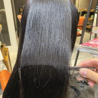 艶髪 ナチュラル ブリーチなし 暗髪 ヘアスタイルや髪型の写真・画像