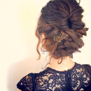 ミディアム ハーフアップ ヘアアレンジ ゆるふわ ヘアスタイルや髪型の写真・画像