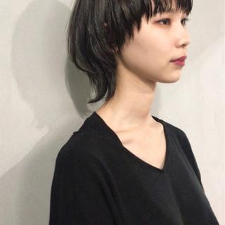 ショート マッシュ かっこいい レイヤーカット ヘアスタイルや髪型の写真・画像