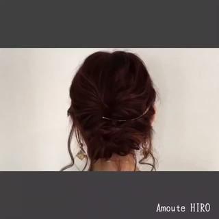 ルーズ ミディアム ヘアアレンジ フェミニン ヘアスタイルや髪型の写真・画像