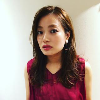 外国人風 モード 大人かわいい ロング ヘアスタイルや髪型の写真・画像