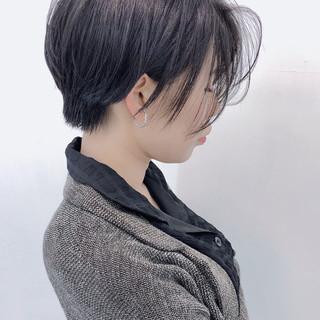 大人可愛い 黒髪 ショートボブ ショート ヘアスタイルや髪型の写真・画像 ヘアスタイルや髪型の写真・画像
