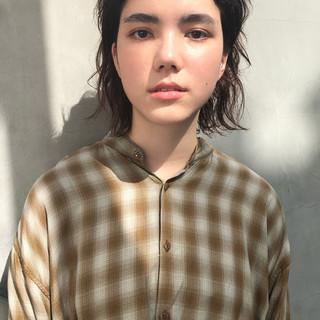 オン眉 前髪あり 外国人風 ショート ヘアスタイルや髪型の写真・画像