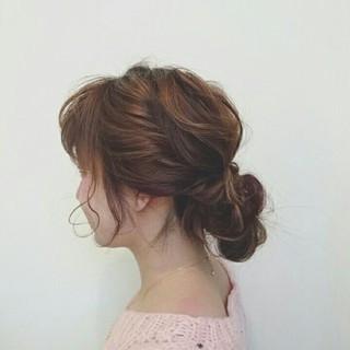 波ウェーブ ヘアアレンジ 簡単ヘアアレンジ 無造作 ヘアスタイルや髪型の写真・画像