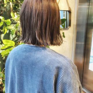 ストリート カジュアル 切りっぱなしボブ ボブ ヘアスタイルや髪型の写真・画像