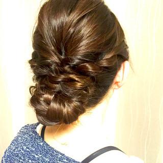 まとめ髪 ヘアアレンジ 編み込み 簡単 ヘアスタイルや髪型の写真・画像 ヘアスタイルや髪型の写真・画像