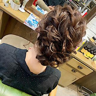 エレガント ゆるウェーブ ヘアアレンジ 結婚式 ヘアスタイルや髪型の写真・画像