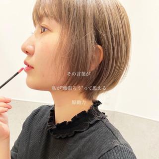 ナチュラル ブリーチ ショートボブ ミニボブ ヘアスタイルや髪型の写真・画像