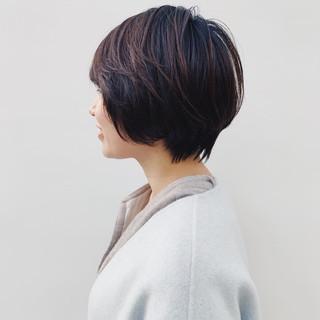 パーマ ハンサムショート ショート アンニュイほつれヘア ヘアスタイルや髪型の写真・画像