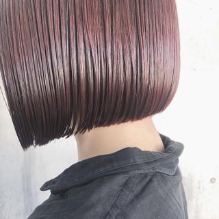 ボブ 切りっぱなしボブ ナチュラル ミニボブ ヘアスタイルや髪型の写真・画像 ヘアスタイルや髪型の写真・画像