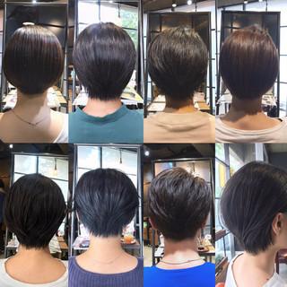 まとまり ナチュラル ショート ハンサムショート ヘアスタイルや髪型の写真・画像