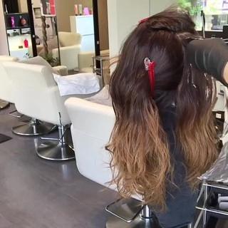 グレージュ アッシュ 外国人風 ロング ヘアスタイルや髪型の写真・画像