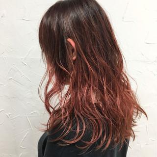 ハイライト 外国人風 ミディアム グラデーションカラー ヘアスタイルや髪型の写真・画像