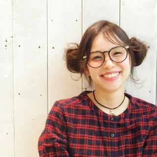 ヘアアレンジ 簡単ヘアアレンジ お団子 ガーリー ヘアスタイルや髪型の写真・画像