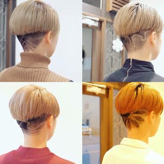 ベリーショート ブリーチカラー ショート モード ヘアスタイルや髪型の写真・画像