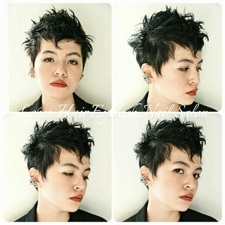 暗髪 ヘアアレンジ こなれ感 外国人風 ヘアスタイルや髪型の写真・画像