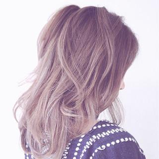 ストリート ミディアム 大人かわいい 外国人風 ヘアスタイルや髪型の写真・画像