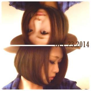 ストリート モード ボブ アップスタイル ヘアスタイルや髪型の写真・画像