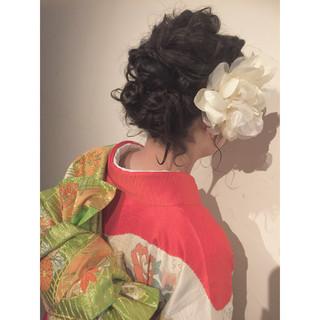 ヘアアレンジ ボブ 着物 まとめ髪 ヘアスタイルや髪型の写真・画像 ヘアスタイルや髪型の写真・画像