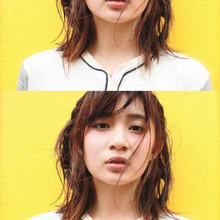 前髪あり ブラウン モード 外国人風 ヘアスタイルや髪型の写真・画像