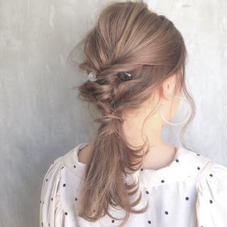 ヘアアレンジ デート 透明感 簡単ヘアアレンジ ヘアスタイルや髪型の写真・画像