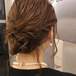 エレガント 結婚式 簡単ヘアアレンジ 大人かわいい ヘアスタイルや髪型の写真・画像