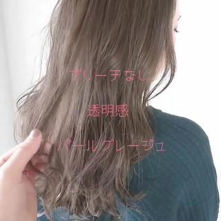 バレンタイン ナチュラル グレージュ 外国人風 ヘアスタイルや髪型の写真・画像