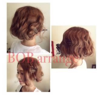 愛され ゆるふわ ヘアアレンジ フェミニン ヘアスタイルや髪型の写真・画像