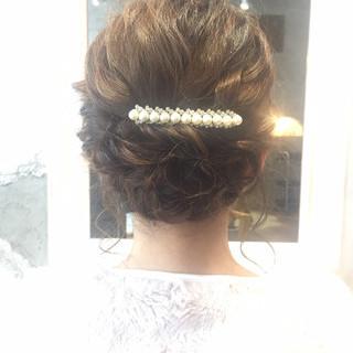 セミロング ヘアアレンジ オフィス 大人女子 ヘアスタイルや髪型の写真・画像