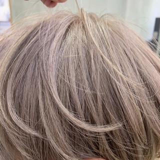 インナーカラー ナチュラル ショート ショートヘア ヘアスタイルや髪型の写真・画像