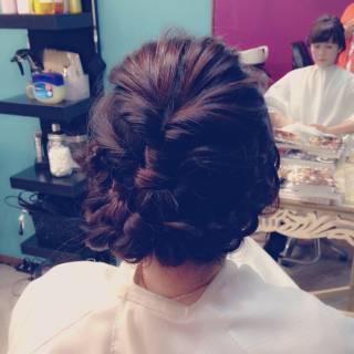 ヘアアレンジ 大人かわいい モテ髪 フェミニン ヘアスタイルや髪型の写真・画像